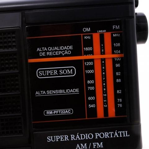 Rádio Portátil Motobrás RM PFT 22AC AM/FM