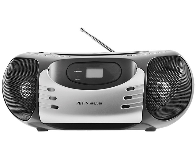 Rádio Portátil Philco PB119 AM/FM com CD/MP3 Player - Entrada USB
