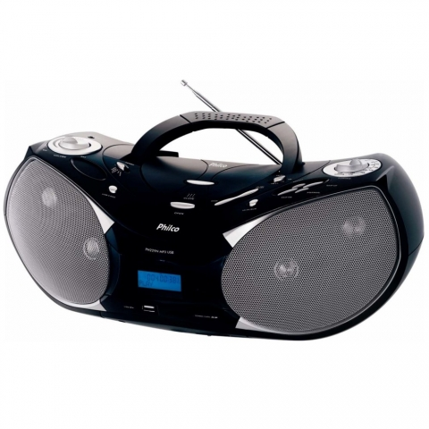 Rádio Portatil Philco PH229N c/ CD, MP3, Entrada USB