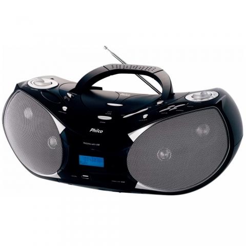 Rádio Portatil Philco PH229N c/ CD, MP3, Entrada USB