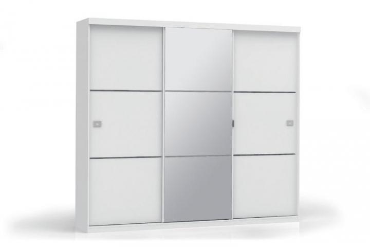 Roupeiro Kappesberg S743 3 Portas de Correr Branco