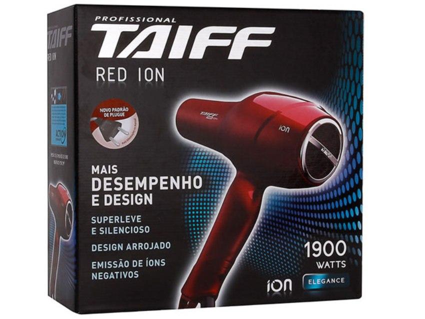 Secador Taiff Red Íon c/ Emissão de Íons - 1.900 W