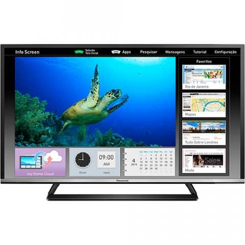 Smart TV LED 40  Panasonic TC-40CS600B Full HD com Conversor Digital 2 HDMI 2 USB 120Hz Wi-Fi Integrado