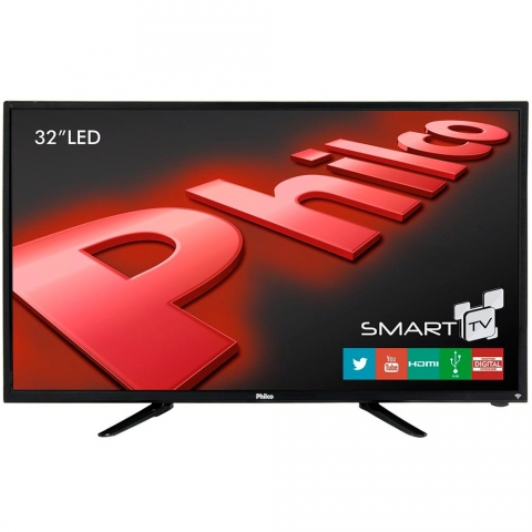 Smart TV Philco LED 32 HD com Conversor Digital, HDMI, USB, Wi-Fi  PH32B51DSGW