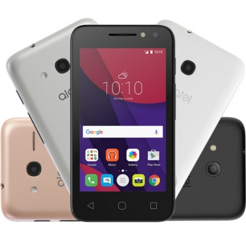Smartphone Alcatel PIXI4 4 Colors Metallic OT4034 Dual Chip Android 6.0 Tela 4 Memória 8GB 3G Câmera 8MP Selfie 5MP Flash Frontal Quad Core
