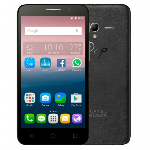 Smartphone Alcatel Pop 3 OT5016, Processador Quad Core, Android 5.1,Tela 5, 8GB, 8MP, 3G, Dual Chip, Desbloqueado Preto