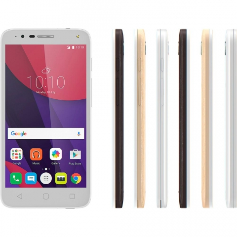 Smartphone Alcatel Pop 4 Android Tela 5 Quad Core 1.1 Ghz 8GB 4G Câmera de 13MP  Branco