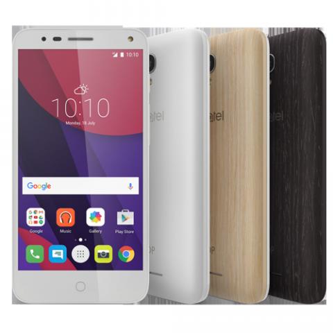 Smartphone Alcatel Pop 4 Tela de 5, Modelo 5051J Premium, Memória 40GB (8GB interno + 32GB MicroSD Card), 3 capas, Câmera 13MP, Selfie 8MP com Flash, 4G