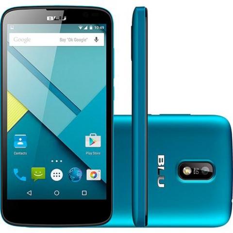 Smartphone Blu Studio G D790L 5.0 Dual Azul , Câmera 5MP, 4GB, Android 4.4 Quad Core