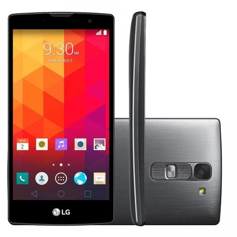 Smartphone LG Prime Plus H520, Processador Quad Core 1.5GHz, Android 5.0, Tela 5, Câmera 8MP, 4G, Single Chip, CLARO  Titânio