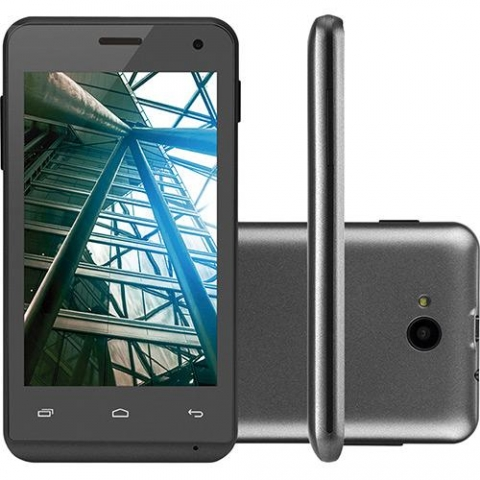 Smartphone Multilaser MS40 Dual Chip Android Tela 4 4GB 3G Câmera 5MP  Preto