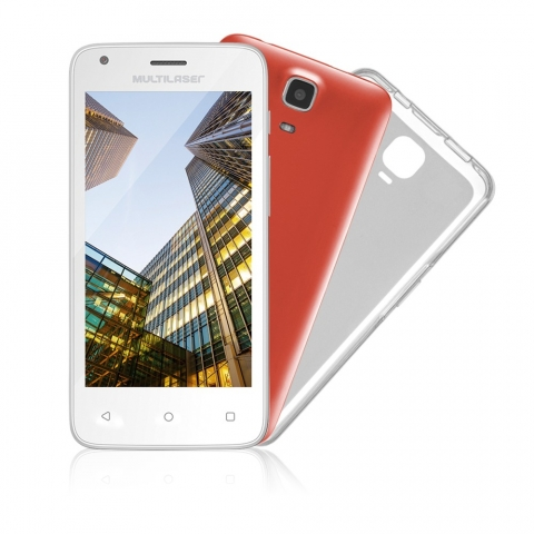 Smartphone Multilaser MS45 Dual Chip Android 5.1 Tela 4.5 8GB Wi-Fi 3G Câmera 5MP Branco