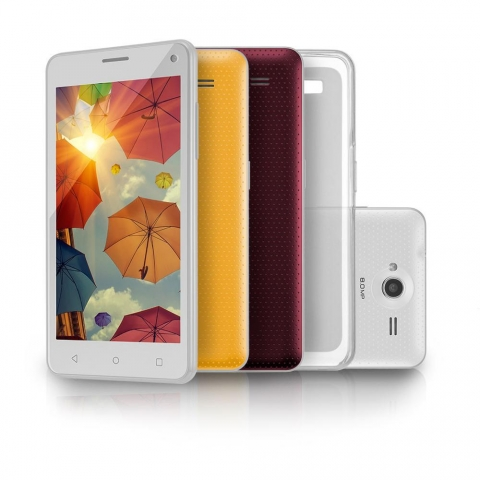 Smartphone Multilaser MS50 Colors Branco com Tela 5.0, Dual Chip, Android 5.0, Câmera 8MP, WiFi, 3G, Bluetooth e Processador Quad Core de 1.3 GHz