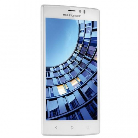 Smartphone Multilaser MS60, Dual Chip, Branco, 5.5, 4G, Wifi, Android 5.1, 13 MP, 16 GB