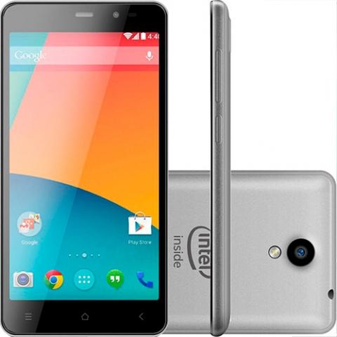 Smartphone Qbex S008 Desbloqueado Android 4.4 Tela 5 16GB 3G 8MP - Prata