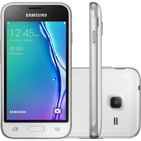 Smartphone Samsung Galaxy J1 Mini Dual Chip Android 5.1 Tela 4 8GB 3G Wi-Fi Câmera 5MP - Branco