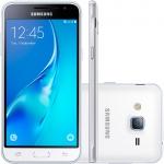 Smartphone Samsung Galaxy J3 SM-J320, Quad Core 1.5 Ghz, Android 5.1, Tela de 5, 8GB, 8 MP, 4G, Dual Chip, Claro Branco