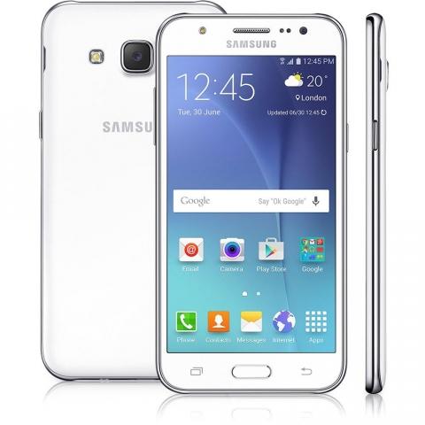 Smartphone Samsung Galaxy J5 Duos Dual Chip Desbloqueado Android 5.1 Tela 5 16GB 4G Wi-Fi Câmera 13MP - Branco