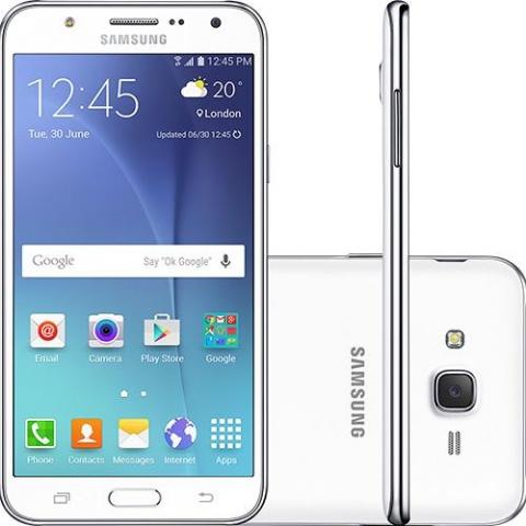 Smartphone Samsung Galaxy J7 Duos Branco com Dual chip, Tela 5.5, 4G, Câmera 13MP, Android 5.1 e Processador Octa Core de 1.5 Ghz