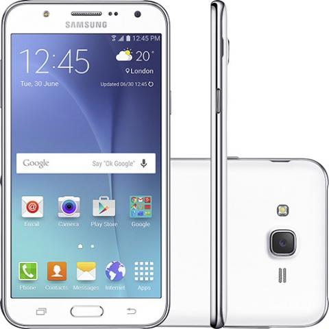 Smartphone Samsung Galaxy J7 Duos Dual Chip Desbloqueado Android 5.1 5.5 16GB 4G 13MP Claro Branco