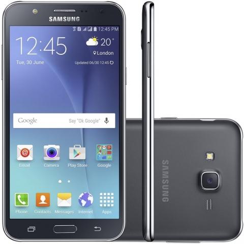 Smartphone Samsung Galaxy J7 Duos Preto com Dual chip, Tela 5.5, 4G, Câmera 13MP, Android 5.1 e Processador Octa Core de 1.5 Ghz