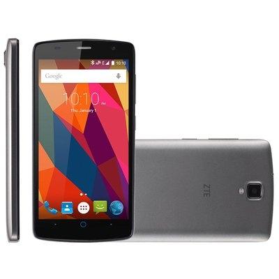 Smartphone ZTE Shade L5, 3G, Memória 8GB, Câmera 8MP, Dual Chip, Android 5.1, Cinza