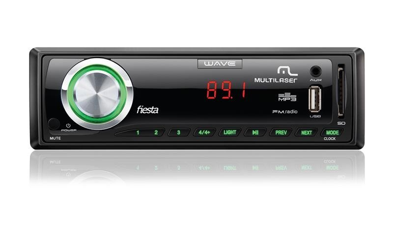 Som Automotivo Multilaser Wave P3265 - Rádio AM/FM Entrada USB Micro SD Auxiliar 7 Cores