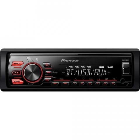 Som Automotivo Pioneer MVH-288BT com Media Receiver Bluetooth e USB