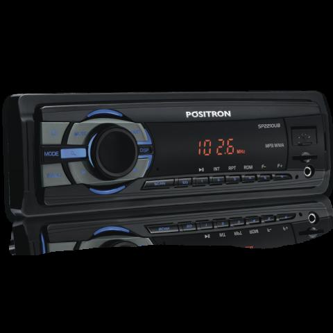 Som Automotivo Pósitron SP2210UB com MP3, Rádio FM, Conexão USB, Leitor de Cartão SD e Entrada Auxiliar