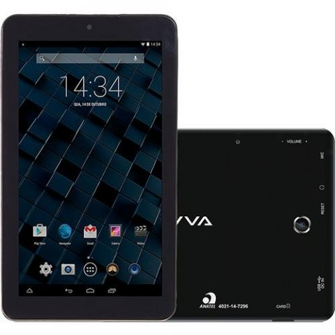 Tablet Bravva BV-Quad Tela 7, 8GB, Wi-Fi, Câmera 2MP Preto