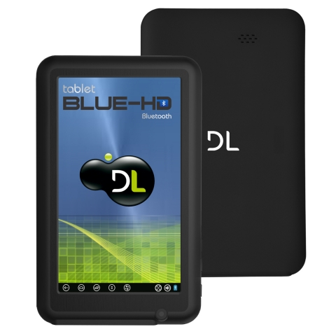Tablet DL BlueHD Tela7, WiFi, Android 4.0, Memória 4GB, Bluetooth, Preto