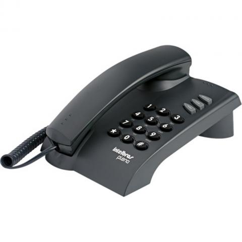 Telefone com Fio Intelbras PLENO com Funções Flash, Redial e Mudo