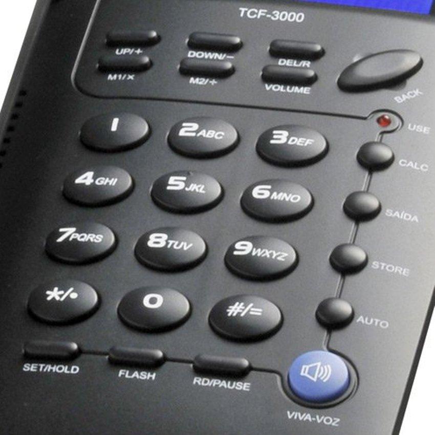 Telefone Elgin com Identificador de Chamadas TCF-3000 Preto