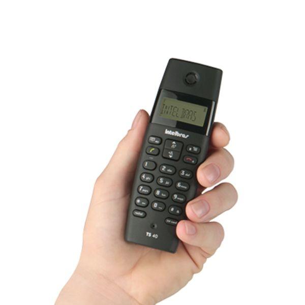 Telefone s/ Fio Intelbras TS 40 ID com Identificador de Chamadas, Faz conferência, 1,9GHz