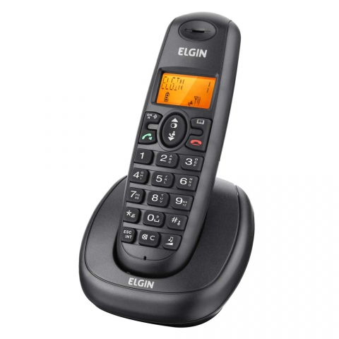 Telefone sem Fio Elgin TSF-7001 com Tecnologia DECT 6.0, Identificador de Chamadas, Viva Voz e Display Iluminado