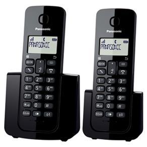 Telefone sem Fio KX-TGB112LBB Preto com Identificador de Chamadas