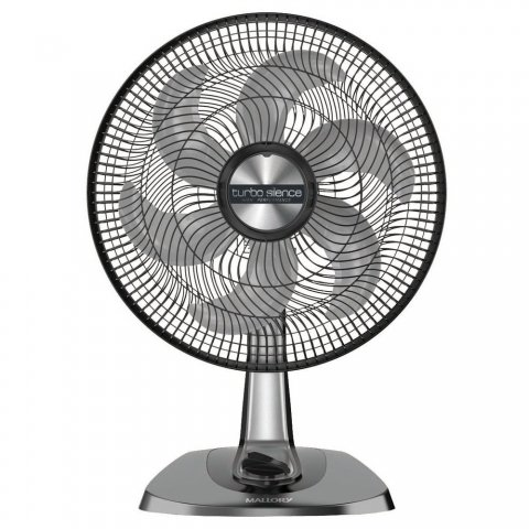 Ventilador Mallory Turbo Silence High Performance 40cm com 6 Pás Preto