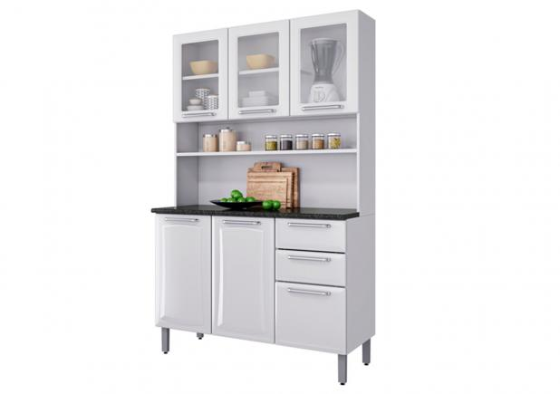 Kit Cozinha Itatiaia Regina Branco I3vg2-105