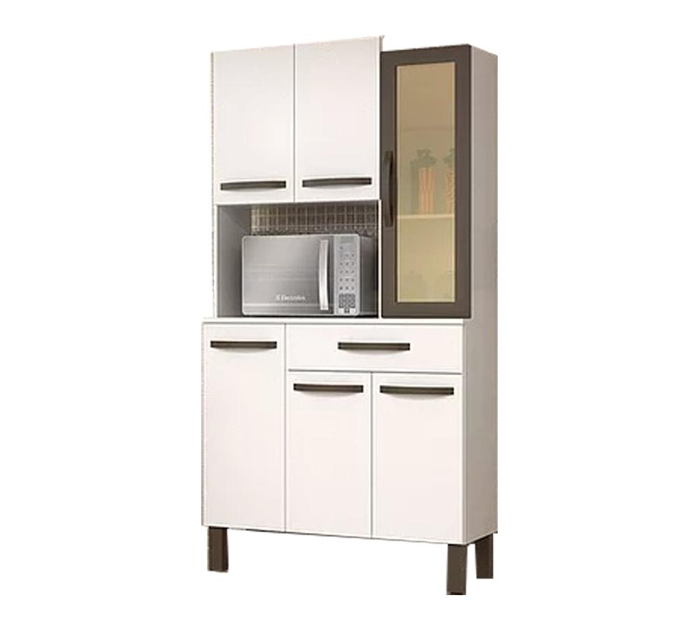 Kit Cozinha Josan Evolution com 6 Portas e 1 Gaveta Branco
