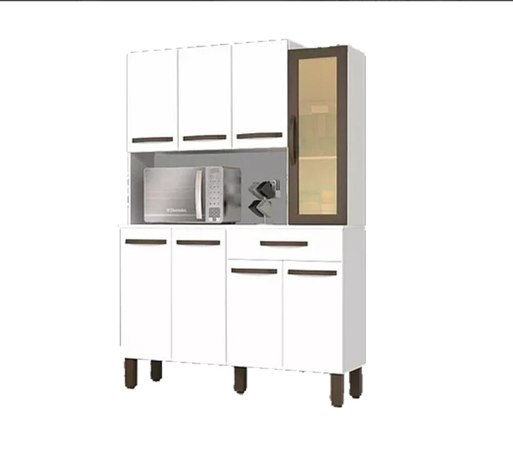 Kit Cozinha Josan Evolution com 8 Portas e 1 Gaveta Branco