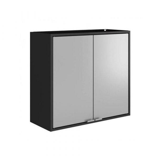 Armário Itatiaia Smart Multiuso 2 Portas 70 - Preto/Cinza
