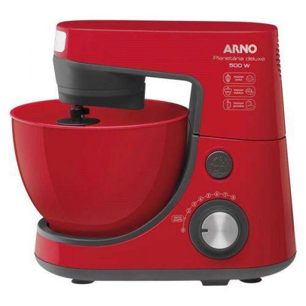 Batedeira Arno Planetária Deluxe Vermelha SX94 com 2 Tigelas