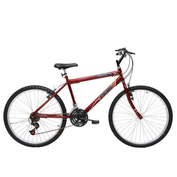Bicicleta Aro 26 Cairu Flash Bike MTB Masculina com 18 Marchas Vermelha