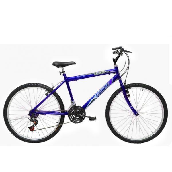 Bicicleta Aro 26 Cairu Flash Bike MTB Masculina com 21 Marchas Azul