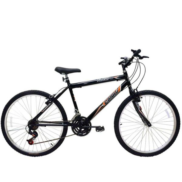 Bicicleta Cairu Flash Aro 24 MTB 21 Marchas Masculina Preto