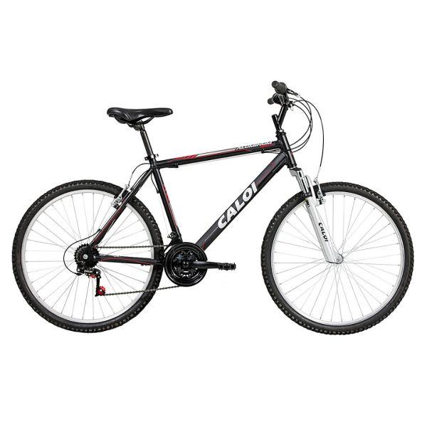 Bicicleta Caloi Aluminum Sport Aro 26, 21 Marchas Preta