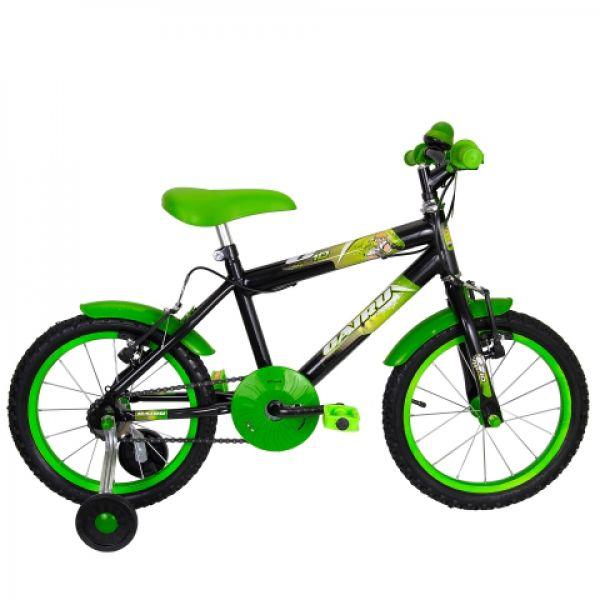 Bicicleta Infantil Cairu C10 Aro 16 Masculina Preto/Verde