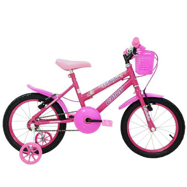 Bicicleta Infantil Cairu Fadinha Aro 16 Feminina Rosa