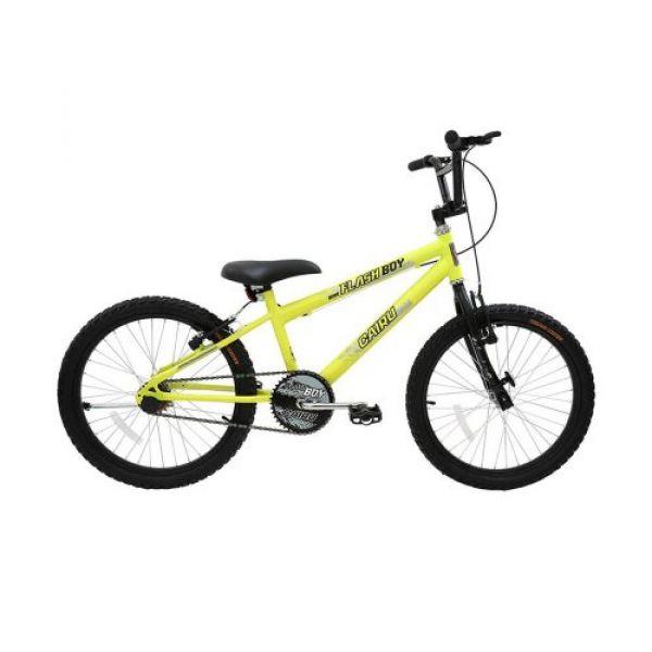 Bicicleta Infantil Aro 20 Cairu Reb Flash Boy MTB Freios V. Break Amarelo/Neon