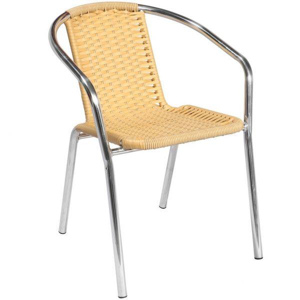 Cadeira Alegro Móveis Ref-99 para Jardim/Área Externa Alumínio Fibra sintética Marfin